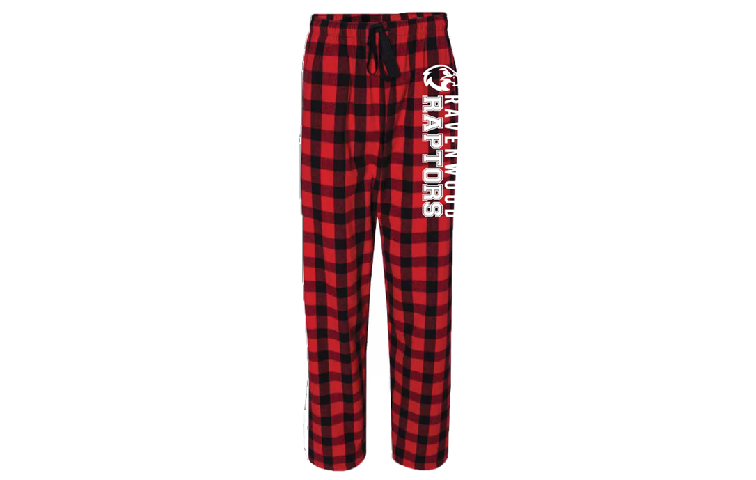 Ravenwood Raptors Pajama Lounge Pant - Red/Black Buffalo Flannel