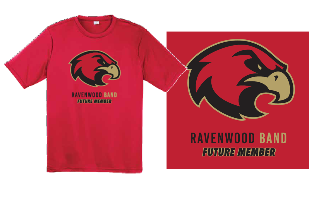 Ravenwood Band FUTURE MEMBER Raptor Head T-Shirt - Red