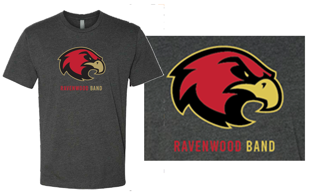 Ravenwood Band Raptor Head T-Shirt - Charcoal Gray
