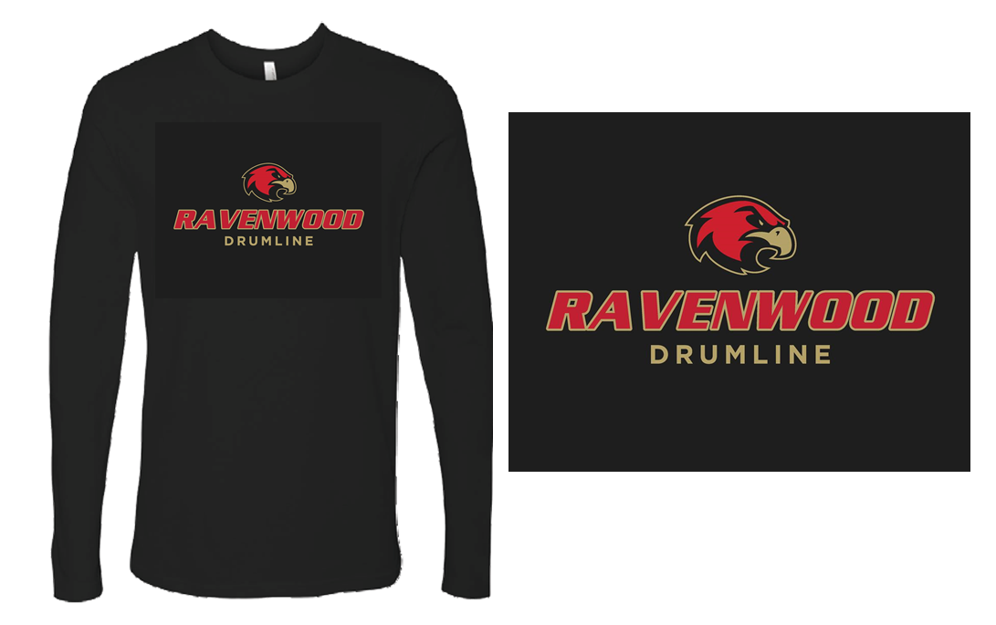 Ravenwood Drumline Long Sleeve T-Shirt - Black