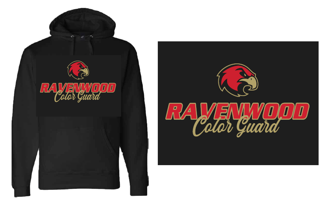 Ravenwood Color Guard Hoodie - Black