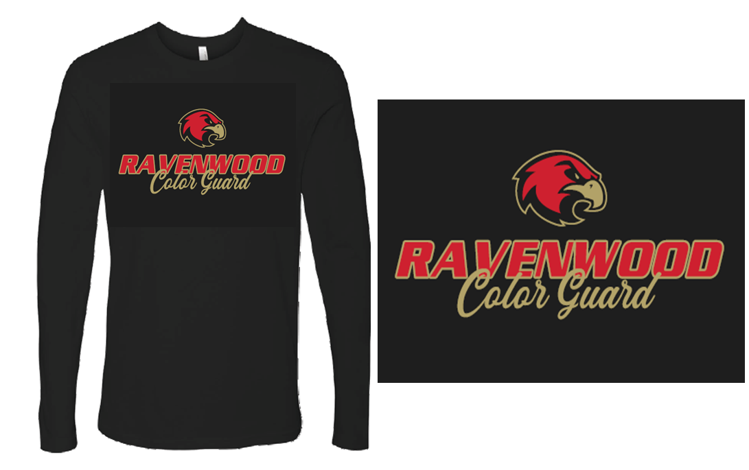 Ravenwood Color Guard Long Sleeve T-Shirt - Black