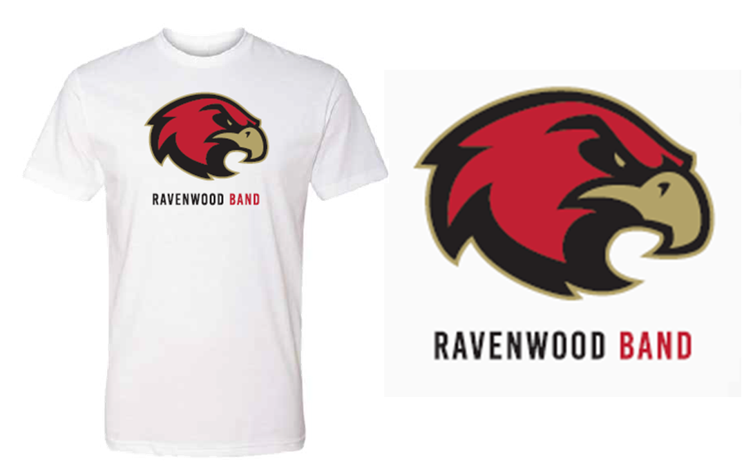 Ravenwood Band Raptor Head T-Shirt - White