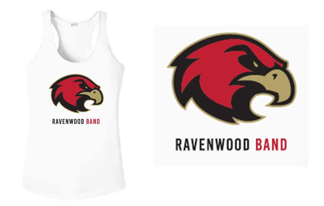 Ravenwood Band Raptor Head Tank Top - White